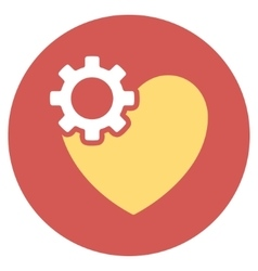 Heart surgery flat round icon vector