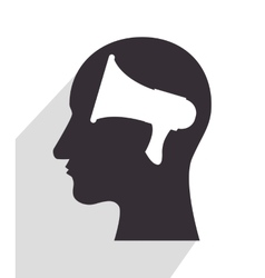 in head silhouette vector image vector image