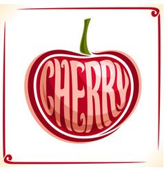 Logo for cherry vector