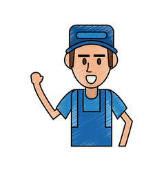 mechanic worker cartoon vector image