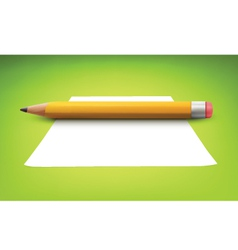 Penicl with inforgraphics banners vector image vector image