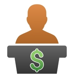 Politician business gradient icon vector