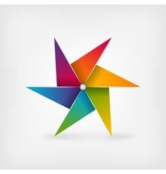 Rainbow pinwheel symbol vector