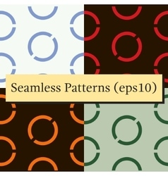 Seamless geometric green background set vector image