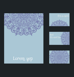 set of blank templates business cards and vector image vector image