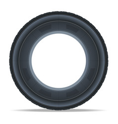 Side view car tire icon vector