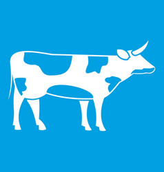 Switzerland cow icon white vector