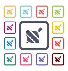 whirligig flat icons set vector image