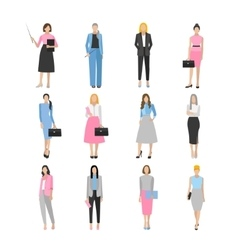 Women in elegant office clothes vector image