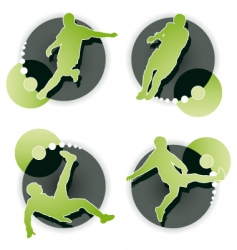 Soccer player set isolated vector