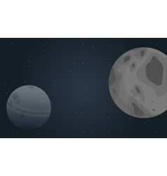 Outer space planet of landscape vector