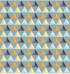 Seamless geometric triangle grid pattern vector