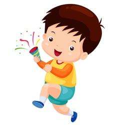boy congratulations vector image