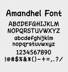 Amandhel alphabet character typography vector