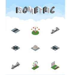 Isometric urban set of highway path intersection vector