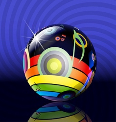 musical ball vector image