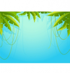 Palm tree border vector