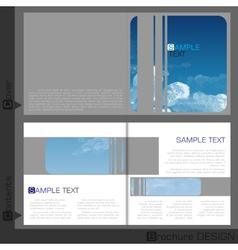 Brochure template design vector