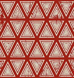 Vintage geometric seamless pattern old repeat vector