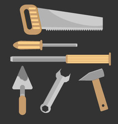 Set of hand tools vector