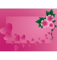 Background by the Valentines day vector image