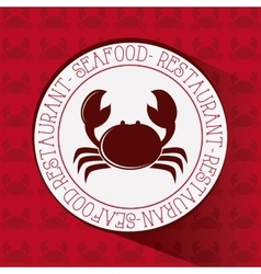 Flat about crab design vector