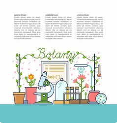 Botanical table and the devices vector