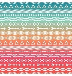Hand drawn geometric ethnic tribal seamless vector
