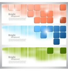 Set of banners with bright squares vector