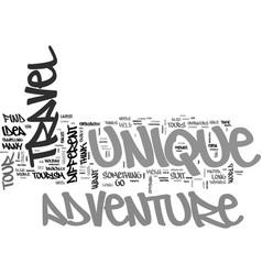 Adventure tourism unique adventure tours text vector