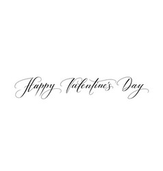 Banner with happy valentines day text isolated on vector