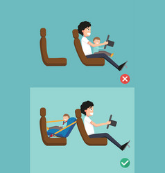 Best and worst for baby safety vector