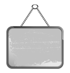 Black and white frame on a chain vector