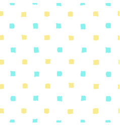 Blue and yellow paint squares background vector
