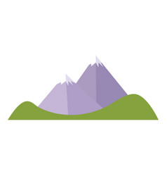 Cartoon mountain peak snow climbing natural vector