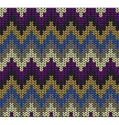 Color knitted wool background vector