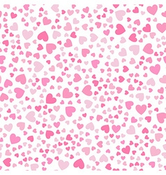 Cute little hearts in seamless pattern vector image vector image