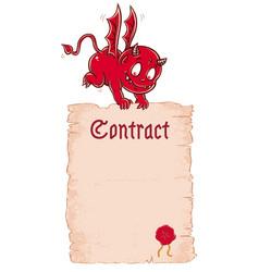 ector devils contract vector image vector image