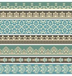 Floral retro borders vector