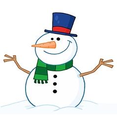 Friendly Snowman vector image