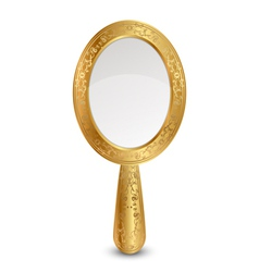 gold mirror vector image