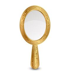 gold mirror vector image vector image