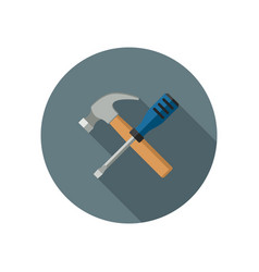 hammer and screwdriver vector image vector image