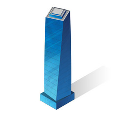 isometric skyscraper icon vector image vector image