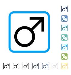 mars male symbol framed icon vector image
