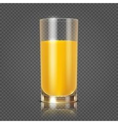 Orange juice in glass vector