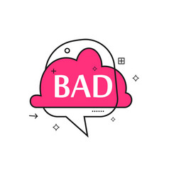 Outline speech bubble with bad phrase vector