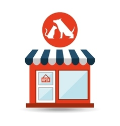 pet shop with vet dog and vector image