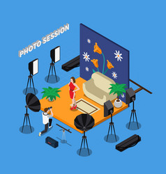 photo session isometric design vector image