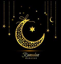Ramadan kareem celebration greeting card decorated vector